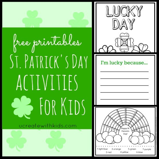 Saint Patrick's Day Printables {color by number}