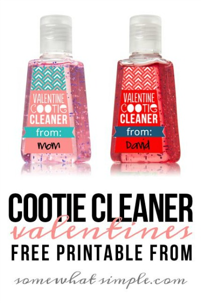 Cootie Cleaner Valentine Printable by Somewhat Simple