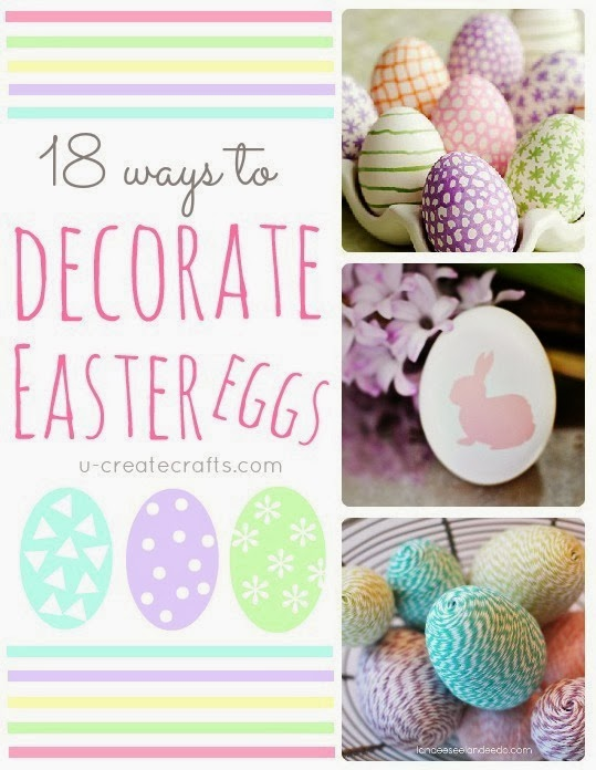 Lots of beautiful Easter Egg Decorating Ideas at www.u-createcrafts.com