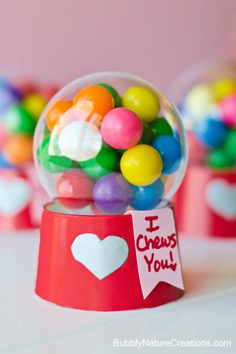 Mini Gumball Machine Valentine by Bubbly Nature Creations