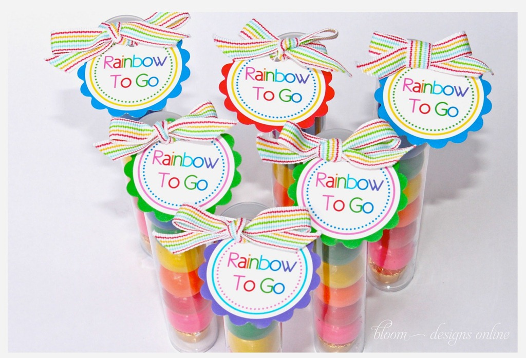 St. Patricks Day Rainbow To Go by Bloom Designs