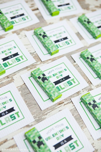 Minecraft Creeper Valentine Printables by Simple as That