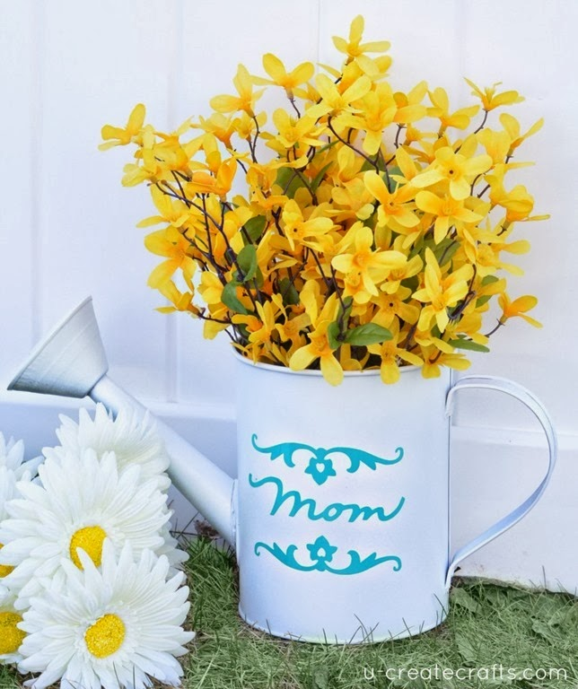 DIY Mothers Day Vase at www.u-createcrafts.com