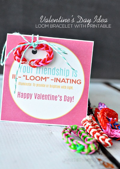 Rainbow Loom Valentines by Thirty Handmade Days