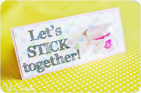 Let's Stick Together Valentine Printable by U Create