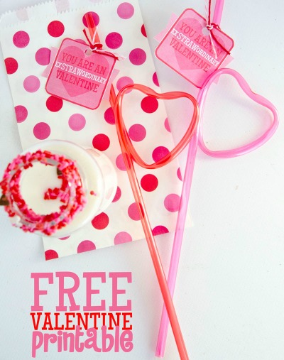 Straw Valentine Printable by I Heart Naptime