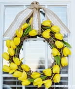 Simple Tulip Wreath Tutorial