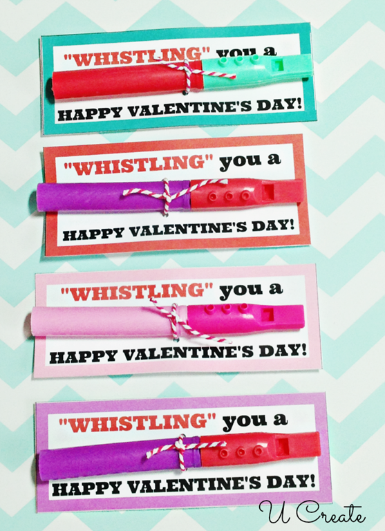 Whistle Valentine Printables by U Create
