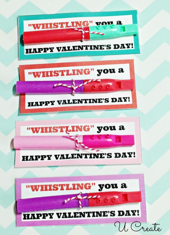 Whistle Valentine Printables by U Create