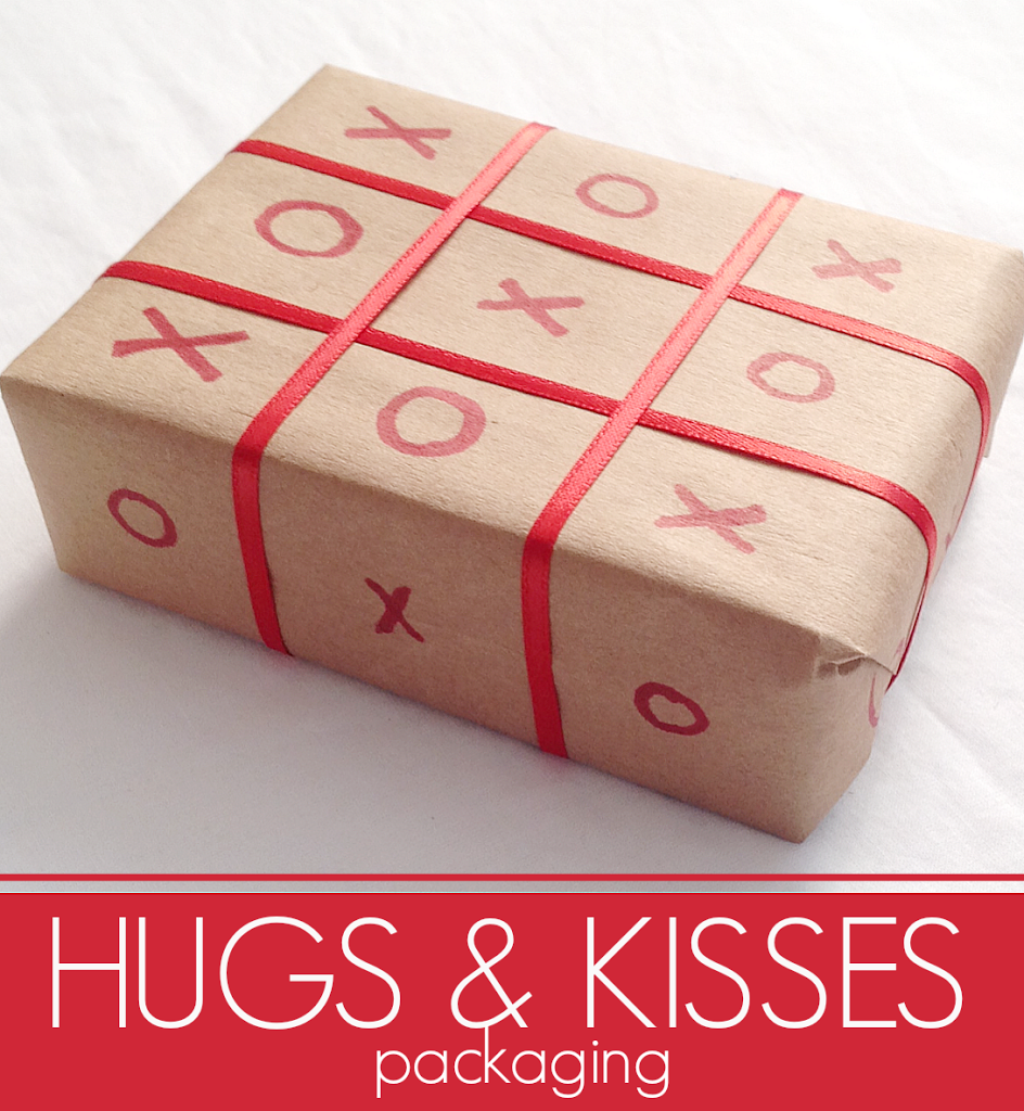 Hugs and Kisses packaging idea #love #valentines