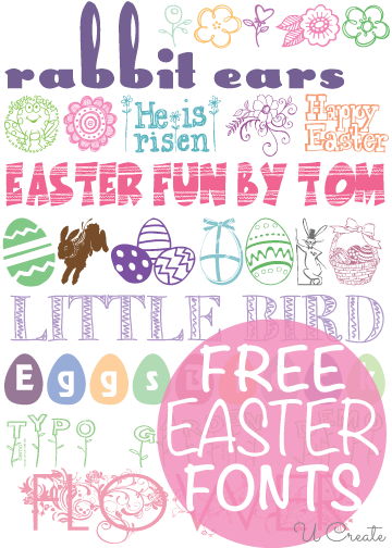 Free easter fonts round up u create