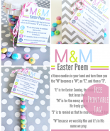 Free Printable: Easter M & M Poem Tags