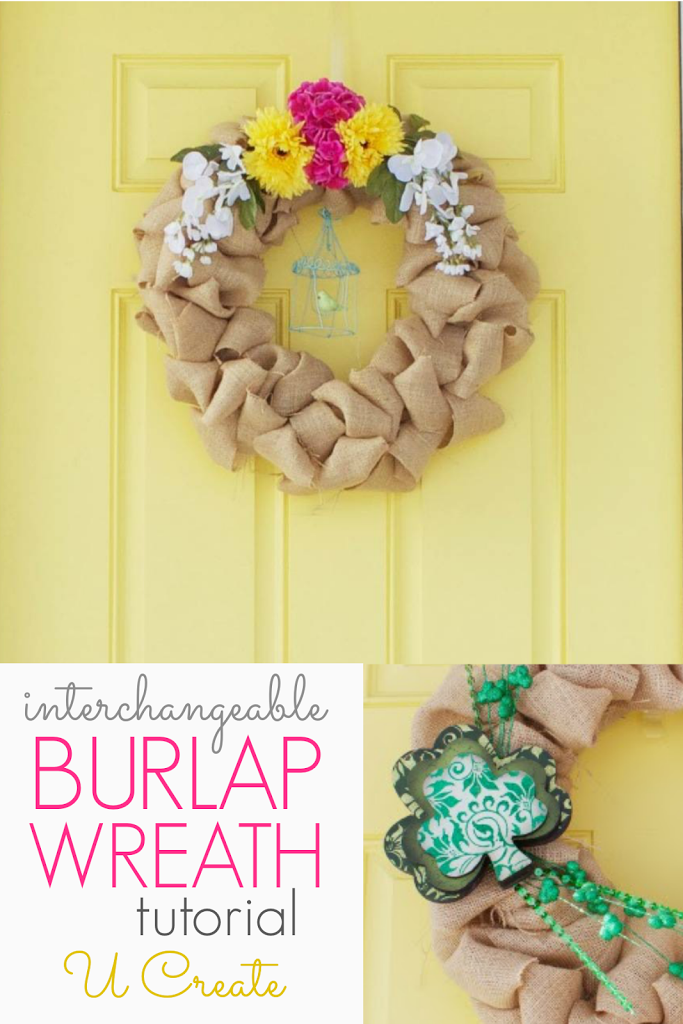 Interchangeable Burlap Wreath Tutorial - for all seasons!!