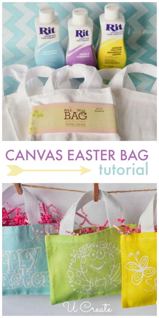 DIY Canvas Easter Bags by U Create