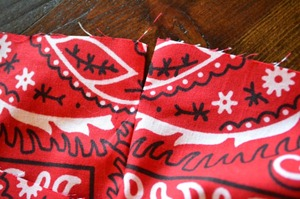 Drawstring Bandanna Backpack Step 19