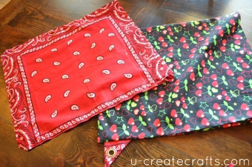 How to make a bandana drawstring backpack