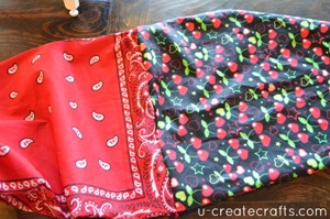 Drawstring Bandanna Backpack Tutorial Step 28
