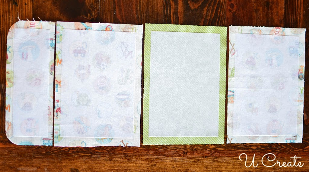 4 You Are Going To Start With The Outside Of Packet First 3 Base Pieces 1 Crayon Flap Matching Interfacing And Inch Piece