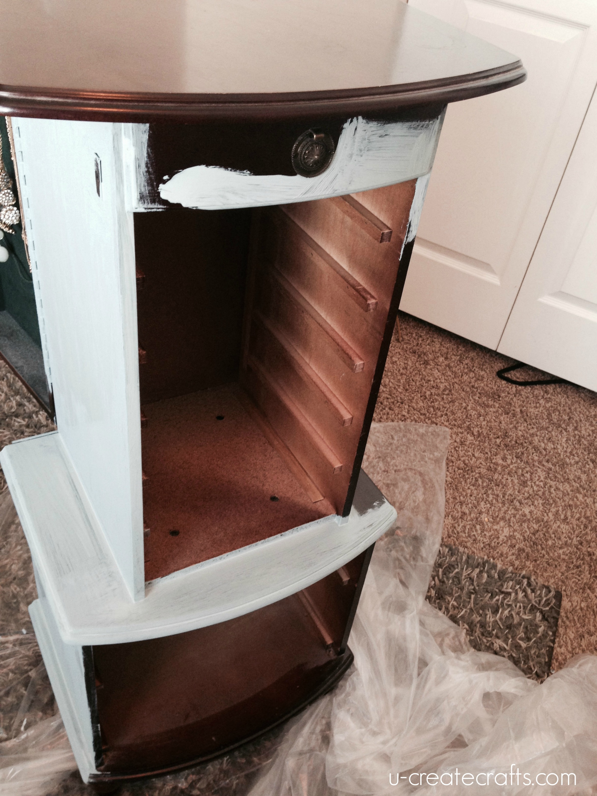 Jewelry Armoire Makeover - Before