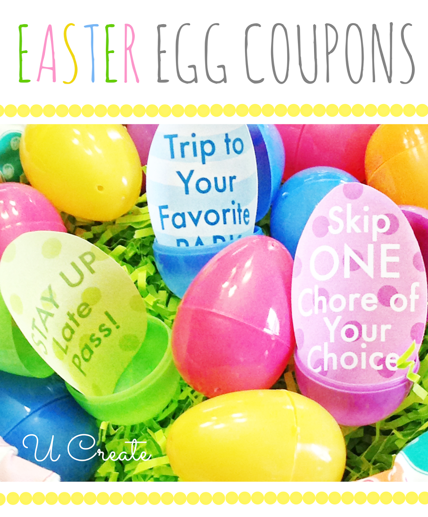 picture regarding Egg Coupons Printable named Easter Egg Discount coupons - U Make