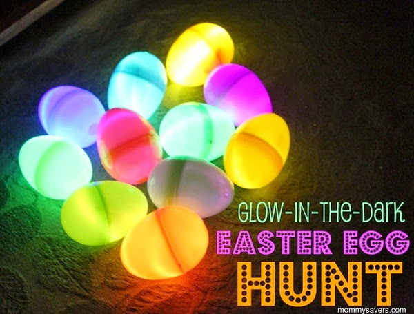 Glow in the Dark Easter Egg Hunt by Mommy Savers