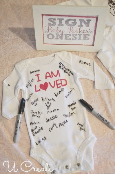 Baby Shower Onesie Guest Book Idea by U Create