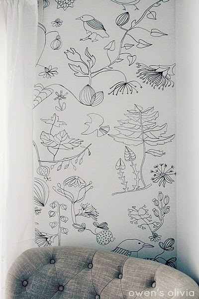 DIY Sharpie Wallpaper by Owen's Olivia - tons of Sharpie craft tutorials!