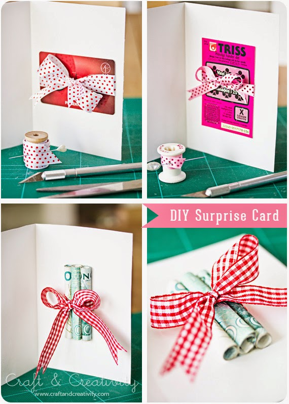 diy surpise card by craft creativity and lots of other creative ways to give