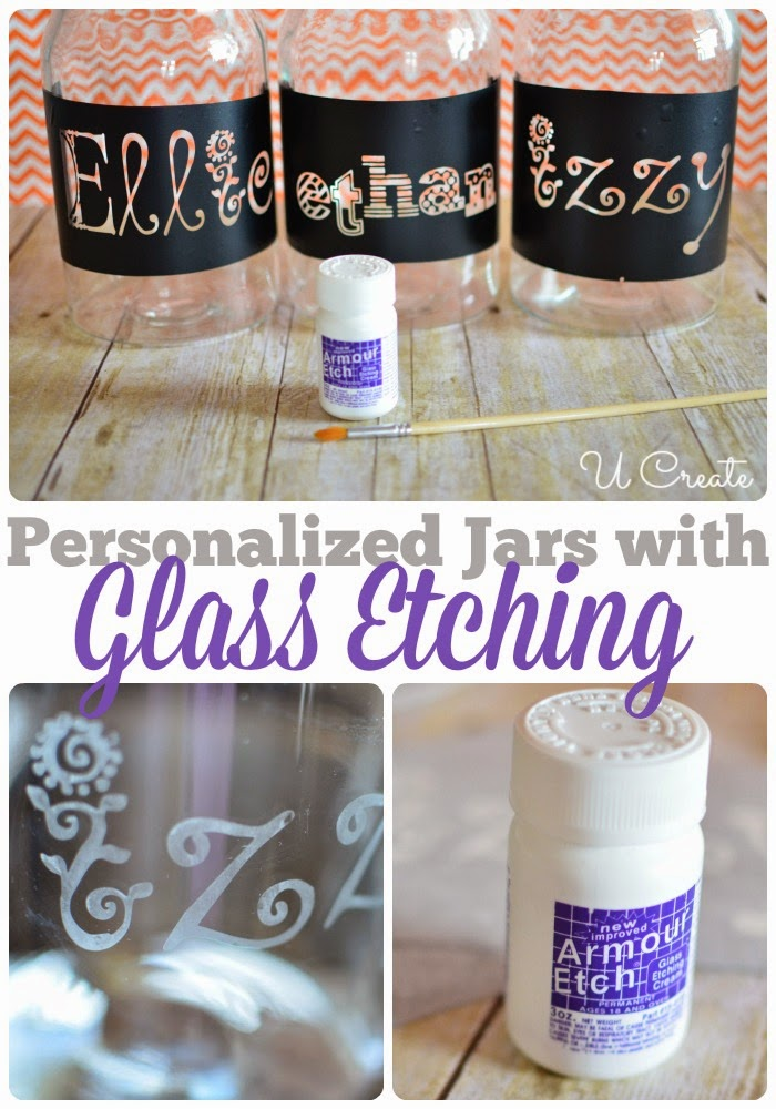 Glass Etching With Vinyl Stencils U Create