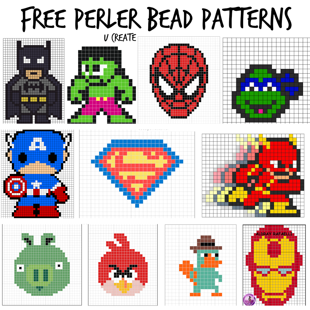picture regarding Pony Bead Patterns Free Printable titled Totally free Perler Bead Practices for Little ones! - U Deliver