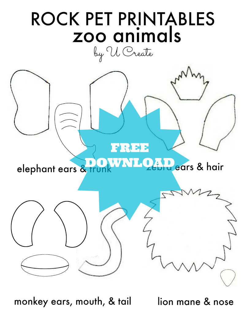 Rock Pet Printables: Zoo Edition - U Create