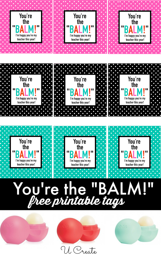 Dynamite image for you're the balm free printable