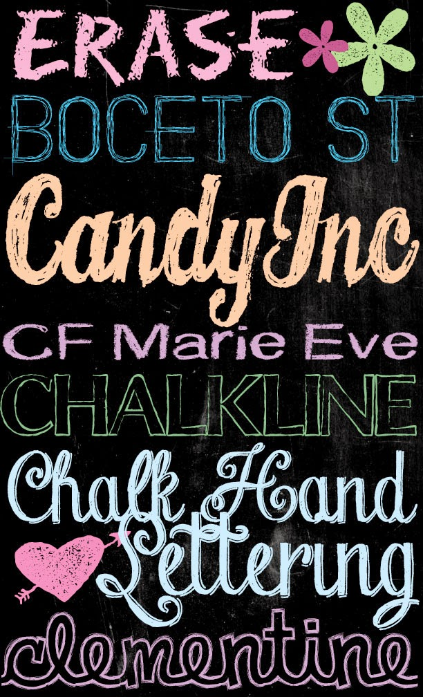 Tons of free chalkboard fonts and dingbats u create for Chalkboard sign font