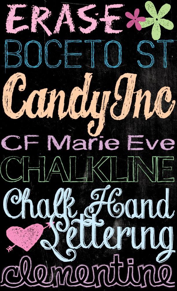 Tons of Free Chalkboard Fonts and Dingbats! - U Create
