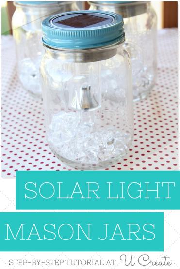 How to make Solar Light Mason Jars