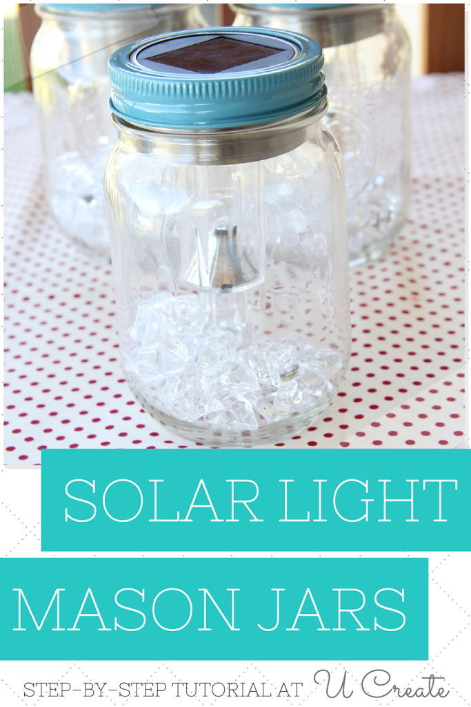 How to make Solar Light Mason Jars