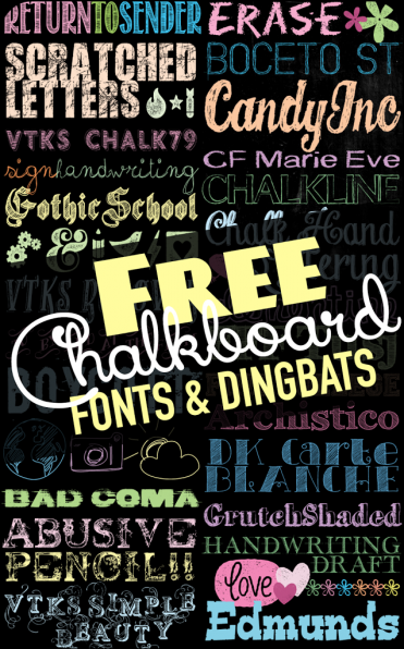 TONS-of-Free-Chalkboard-Fonts-amp-Dingbats-at-U-createcrafts.com_