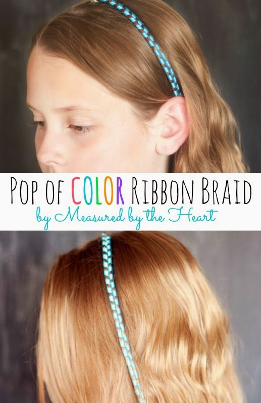 ribbon braid tutorial by Measured by the Heart - and other beautiful hair tutorials!