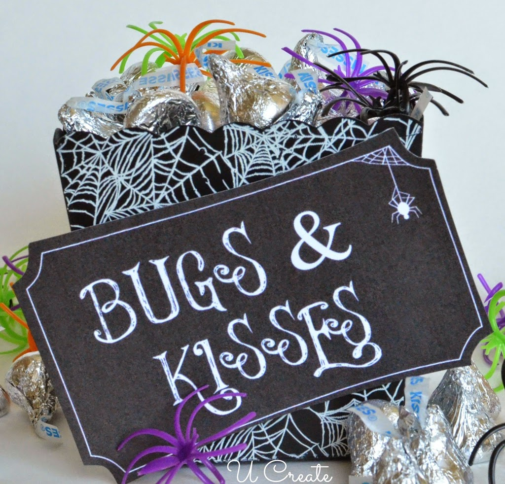 graphic about Bugs and Kisses Printable named Halloween Printable: Insects and Kisses - U Establish