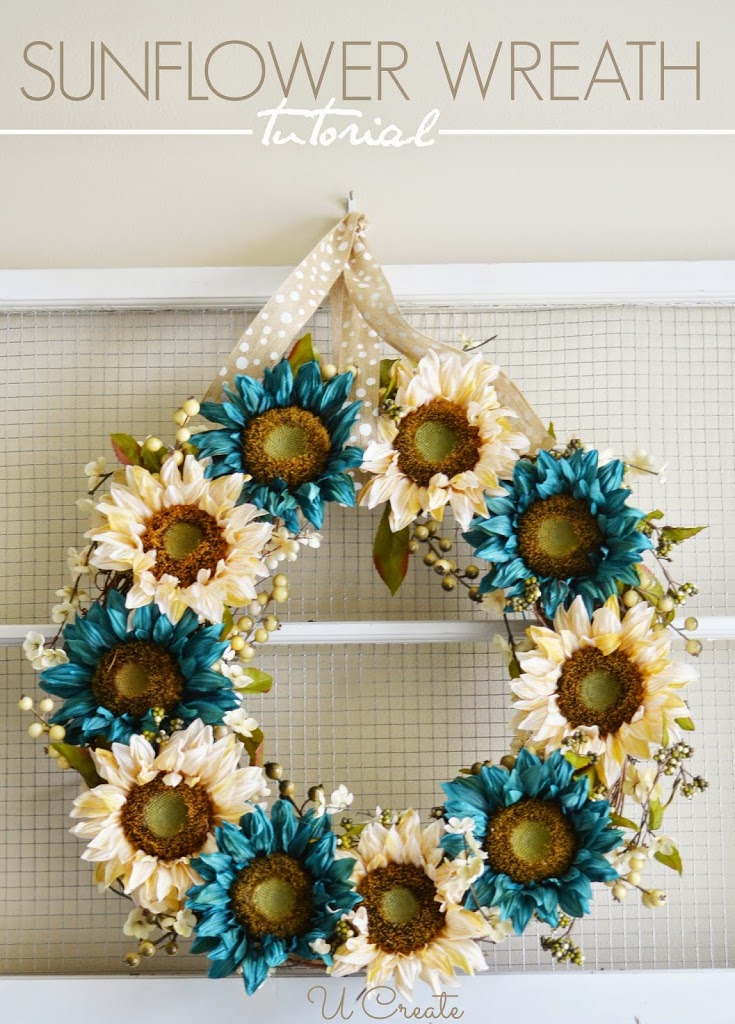 Sunflower Wreath Tutorial U Create