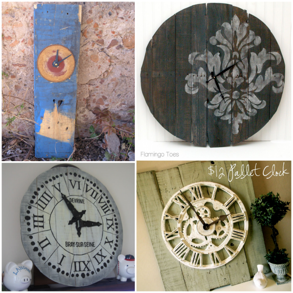 Simple Round Pallet Clock Tutorial At PRODIGAL PIECES. Paris Clock From Reclaimed  Wood At 4 THE LOVE OF WOOD.