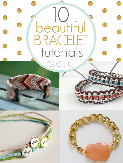Tons of beautiful bracelet tutorials