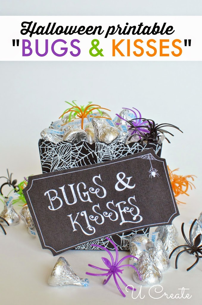 graphic about Bugs and Kisses Printable identify Halloween Printable: Insects and Kisses - U Make