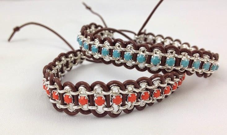 diy leather bracelet tutorial - photo #13
