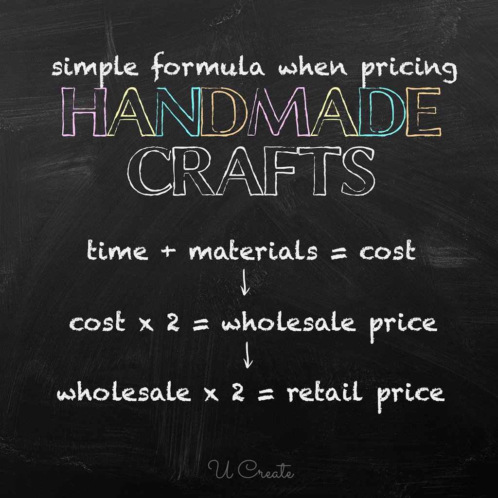 how to price handmade items pricing chart for handmade crafts u create 4340