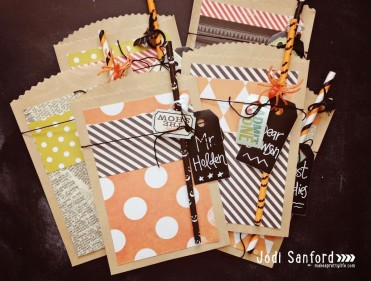 Halloween Goodie Bag Tutorial by Jodi Sanford