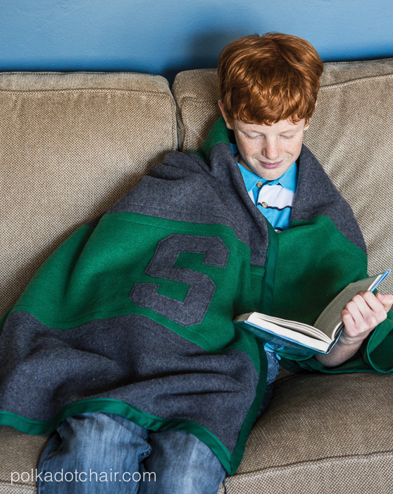 Striped Polar Fleece Blanket Sewing Pattern