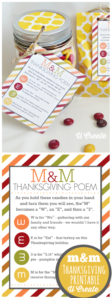 M Amp M Thanksgiving Poem Printable U Create