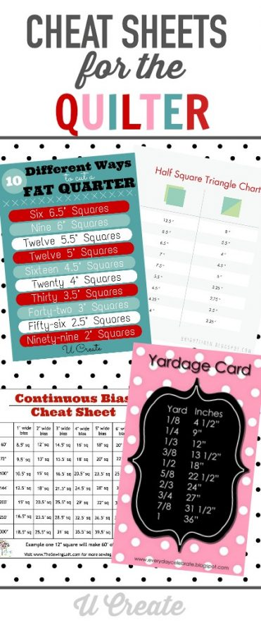 Cheat Sheets for the Quilter