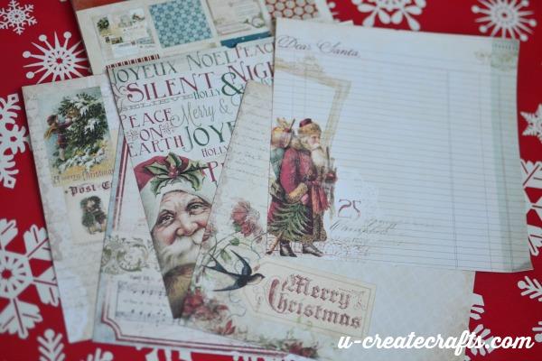 4 Christmas scrapbook paper